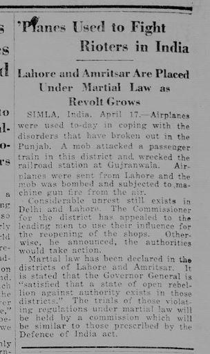 Gujranwala massacre 1919